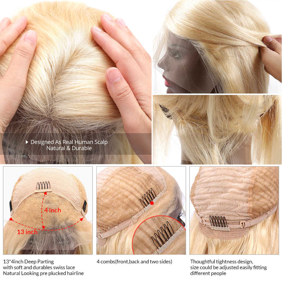 Бразильские волосы 613 блонд кружева перед парик короткий Боб кружева передние человеческие волосы парики для черных женщин 1B613, 1B, 613 парик фронта шнурка