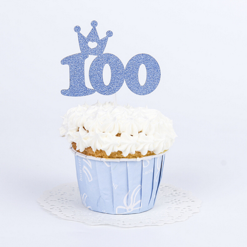 Aliexpress.com : Buy Glitter Baby 100days Cupcake Topper Baby Shower  Cupcake Topper, Birthday Cake Topper, Girls First Party From Reliable Baby  Shower ...