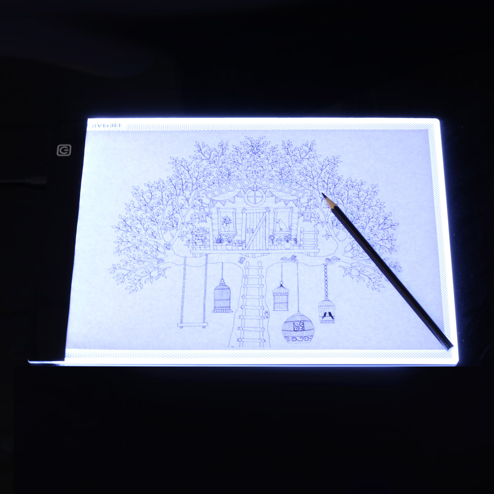 LED Electronic Whiteboard A4 light Pad Drawing Tablet Tracing Pad Sketch Book Blank Canvas for Painting Watercolor Acrylic Paint 6