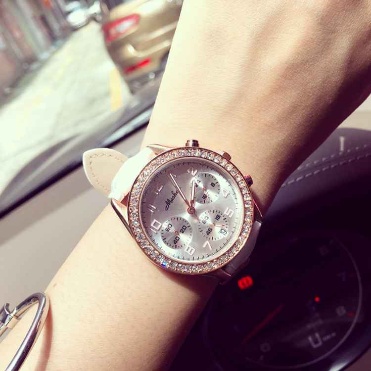 Fashion Women s Quartz Watches Rhinostone Leather Wristwatch Women Business Sports Dress Watch Clock Hour Relogio