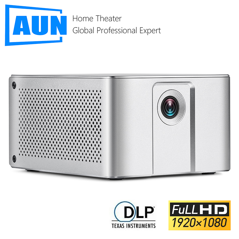 AUN Full HD Projector J20 1920 1080P Android WIFI 10000mAH Battery Portable DLP Projector Support 4K