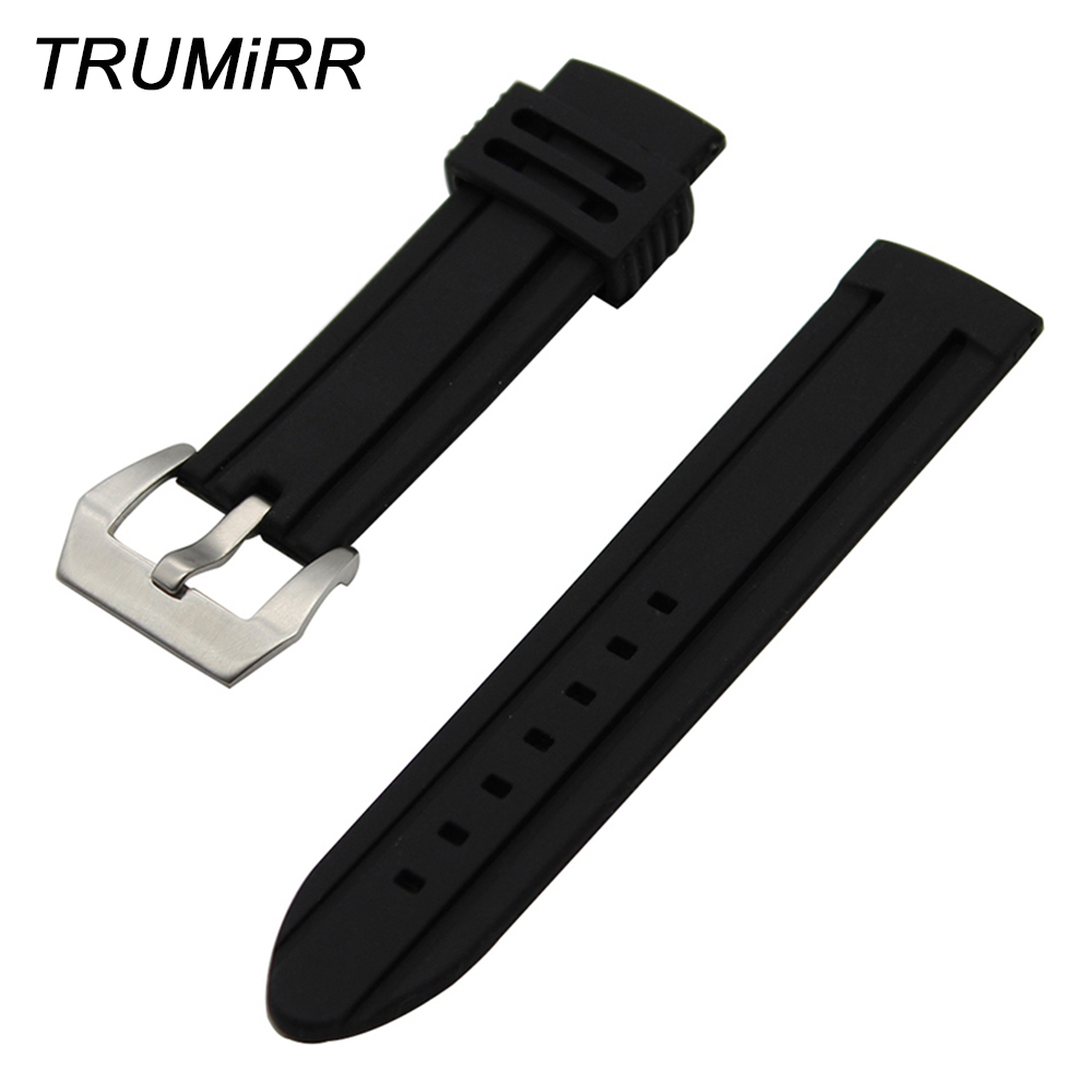 22mm 24mm Silicone Rubber Watchband for Diesel Men Women Watch