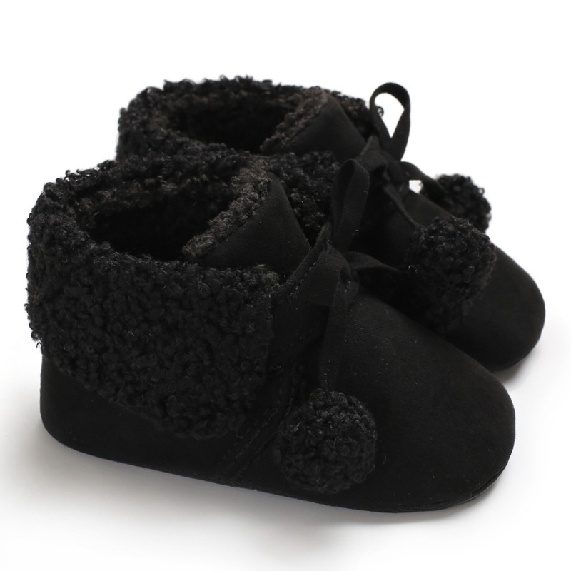 5e69e022e881  3  Toddler Girls Boys Boots Children s Winter Shoes Warm Plush Bootie Anti  Slip Snow Boots Fur Ball 0 18M Unisex Crib Shoes-in First Walkers from  Mother   ...