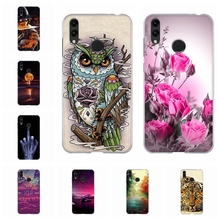 For Huawei Honor 8C Cover Ultra Slim Soft Silicone Phone Case Romantic Patterned 8 C Shell Bag
