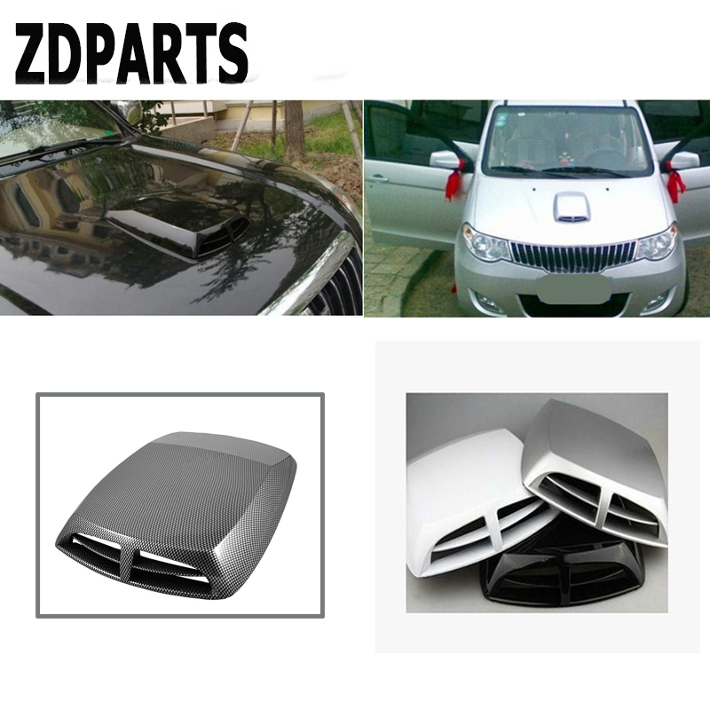 ZDPARTS 2size Car Front Engine Hood Air Vent Trim Cover Sticker For Ford Focus 2 3 Fiesta Mondeo Kuga Kia Rio Ceed Sportage 2017