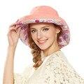 Kenmont Корейских Женщин Мода Защита От Солнца дамы Туризм Широкими Полями Пляж Случайные Шляпы И Шапки Для Платья 3 Цвета 3076