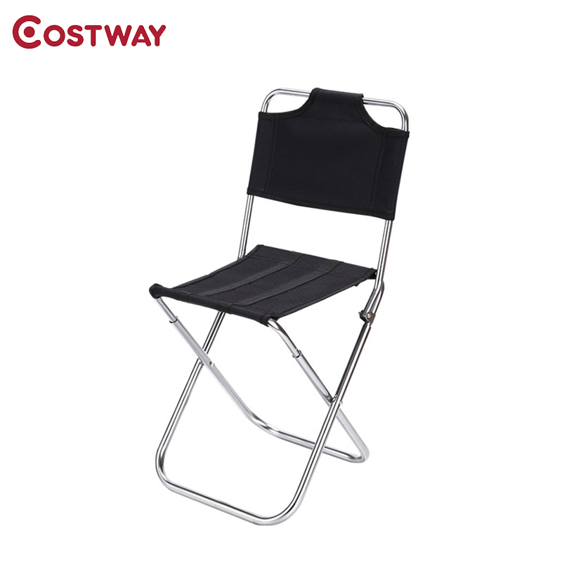 COSTWAY Outdoor Aluminum Alloy Backrest Stool Camping Folding Chair Oxford Cloth Fishing Chair Portable Beach Chair W0263 costway outdoor aluminum alloy backrest stool camping folding chair oxford cloth fishing chair portable beach chair w0263