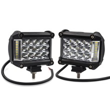 Safego 2pcs 4 inch 57W Led Work Light Side Luminous Car Driving Lamp Offroad Light Bar Combo For 4×4 Trucks Offroad 12V led bar