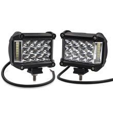 Safego 2pcs 4 inch 57W Led Work Light Side Luminous Car Driving Lamp Offroad Light Bar
