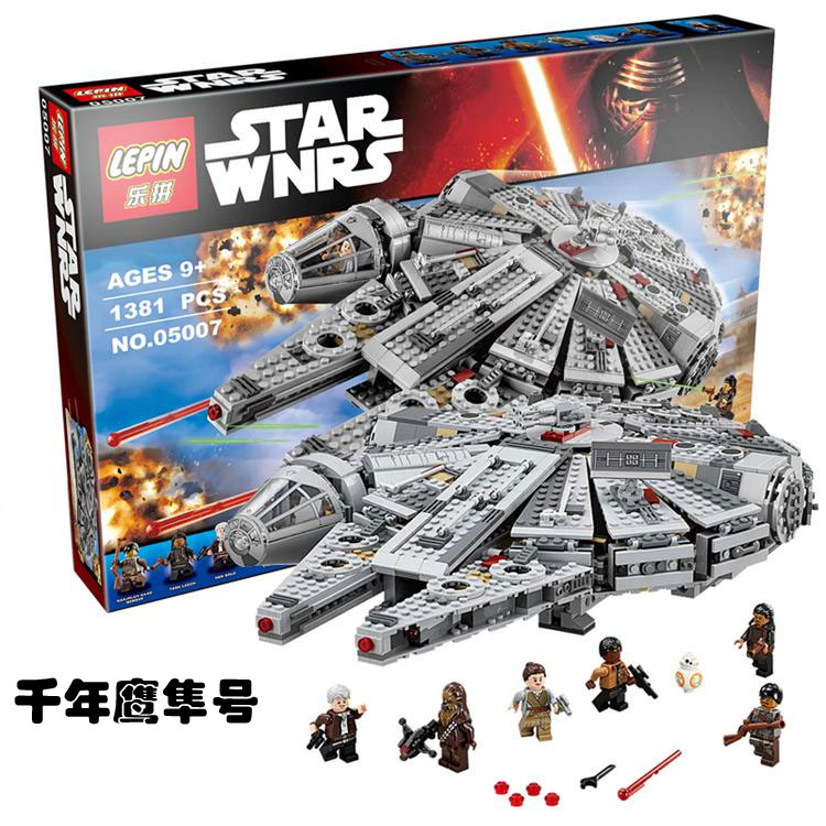 Super Heroe Star wars The Force Awaken Brick Millennium Falcon building block Chewbacca minifigures compatible legoes 75105 toys