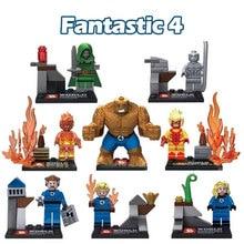 SY167 Hot Sale Super Heroes Classic Fantastic 4 Silver Surfer Minifigure Building Block Compatible Legoe