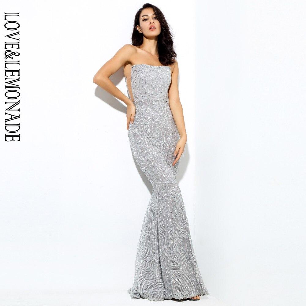 Love&Lemonade . SilverTube WhistlingMaxi Dress   LM0238-in Dresses from Women's Clothing    1