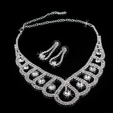 19 Styles Luxury Wedding Bridal Crystal Rhinestone Necklace Earring Party Prom Jewelry Set все цены