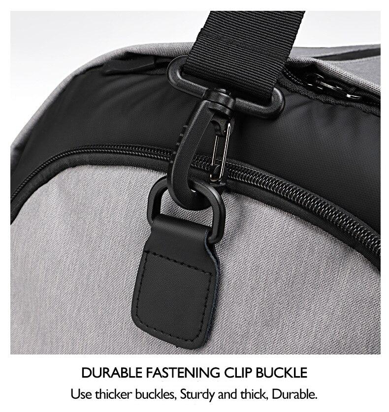 viagem duffle saco com bolso sapato multifuncional