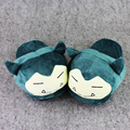 New Cartoon Plush Toys Snorlax Plush Shoes Cute Indoor Fluffy Slippers Soft Stuffed Winter Plush Adut Slippers Shoes