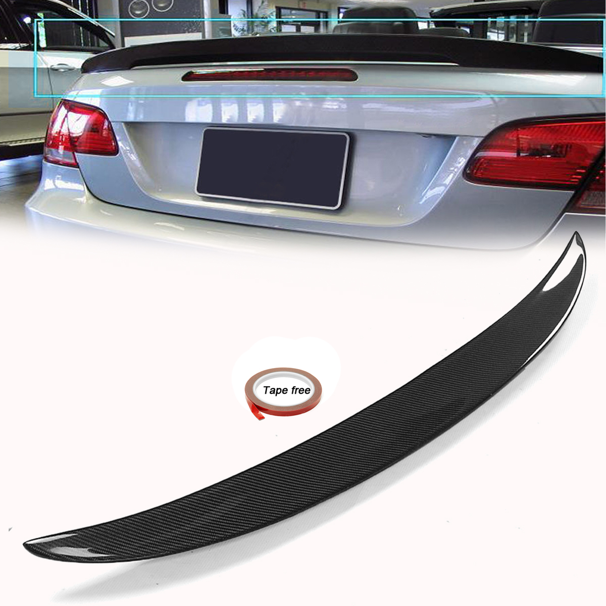 High quality Carbon Fiber Rear Wing Spoiler Tail Trunk Lid boot lip spoiler Wing for BMW E93 325i 328i 335i M3 2006 2013