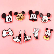 1PCS Cute Cartoon Icon Pins Kawaii Mickey Hand Acrylic Brooch Badges Pin Backpack Clothes Decoration Brooches For Children Gifts(China)