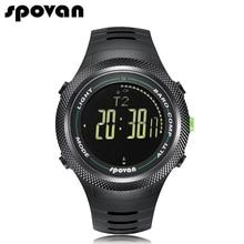 Spovan hommes de montre-bracelet militaire montres 50 m étanche avec led rétro-éclairage/boussole/3d podomètre/calories compter leader2