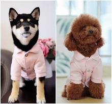 Pink/Black  All Season Dog Cat Pajamas Breathable Pet Homewear Clothes for Small XS S M L XL