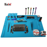 45x30cm Heat Insulation Silicone Pad Desk Mat Maintenance Platform For BGA Soldering Iron Repair Station With