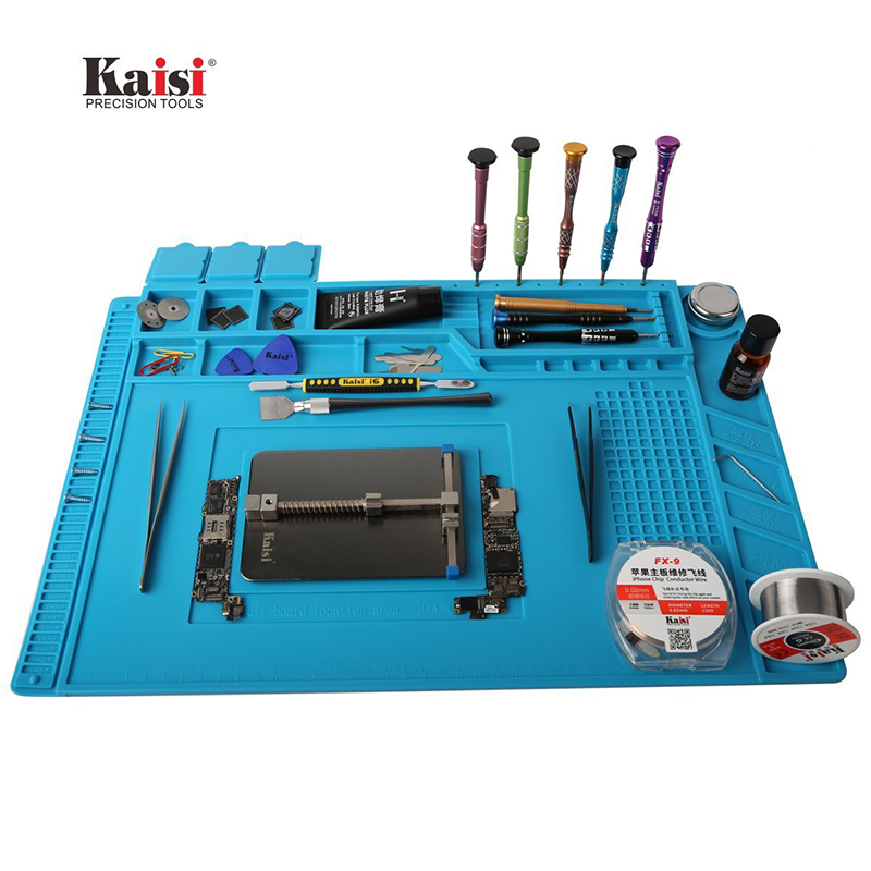 45x30cm Heat Insulation Silicone Pad Desk Mat Maintenance Platform for BGA Soldering Iron Repair Station with Magnetic Section s 160 45x30cm heat insulation silicone pad desk mat maintenance platform for bga soldering repair station with magnetic section