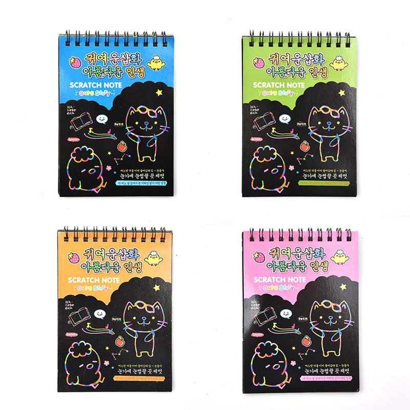 Hot 4 Colors Innovative Early Education Child Scratch Painting Drawing Book Board Juguetes For Children Education Drawing Toys