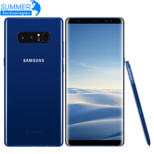 Original Unlocked Samsung Galaxy Note 8 Smartphone 6GB RAM 64GB ROM Dual Back Camera 12MP 6.3inch Octa Core 3300mAh Mobile Phone