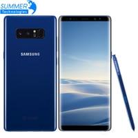 Originele Ontgrendeld Samsung Galaxy Note 8 Smartphone 6 GB RAM 64 GB ROM Dual Camera Terug 12MP 6.3 inch Octa Core 3300 mAh Mobiele telefoon