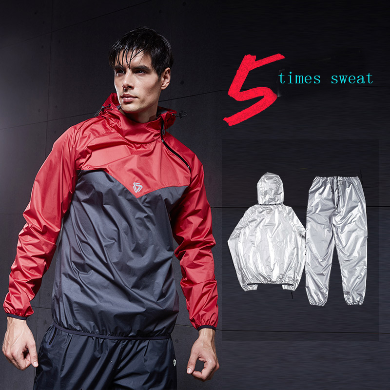 2019 Heavy Duty Fitness Weight Loss Sweat Sauna Suit Exercise Gym Anti-Rip