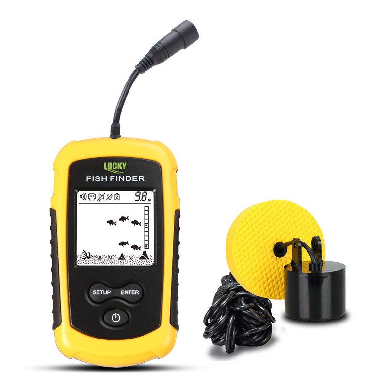 LUCKY FF1108-1 Portable Fish Finder ice fishing Sonar Sounder Alarm Transducer Fishfinder 0.7-100m fishing echo sounder 5