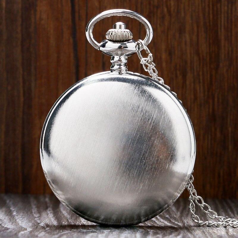 online store 4af88 c7b52 La nueva plata de la manera simple caso cuarzo FOB reloj de bolsillo con  cadena de collar mejor regalo para hombres mujeres envío de la gota libre