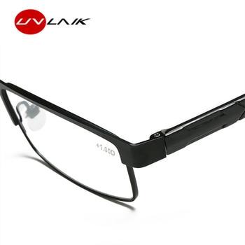UVLAIK Men Titanium alloy Reading Glasses Non spherical 12 Layer Coated lenses Retro Business Hyperopia Prescription Eyeglasses 1