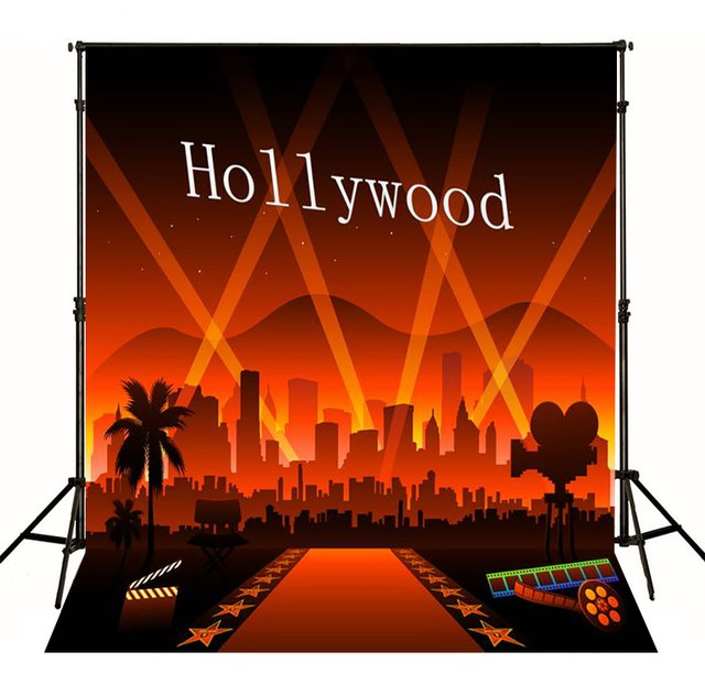 film photo backdrop Vinyl cloth High quality Computer printed hollywood theme Photography Backgrounds
