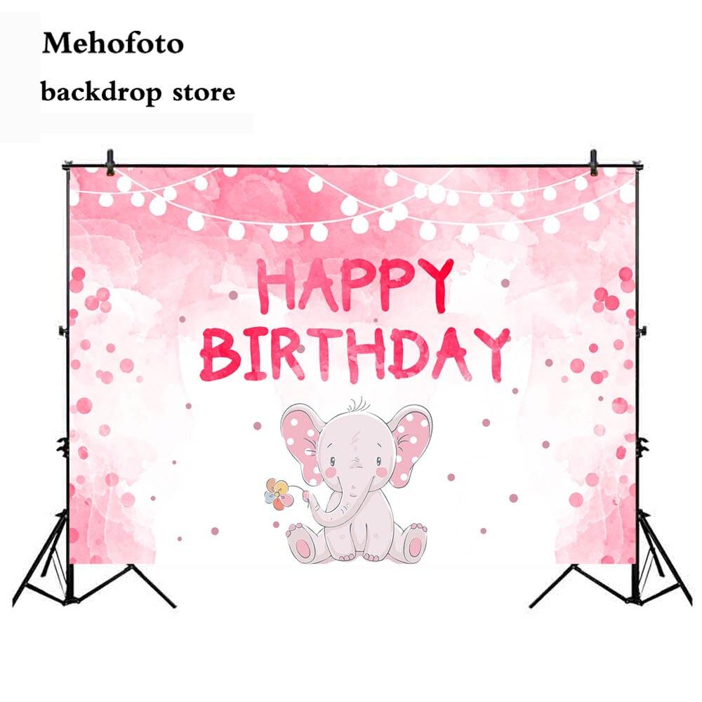 MEHOFOTO Happy Birthday Pink Photo Background Newborn