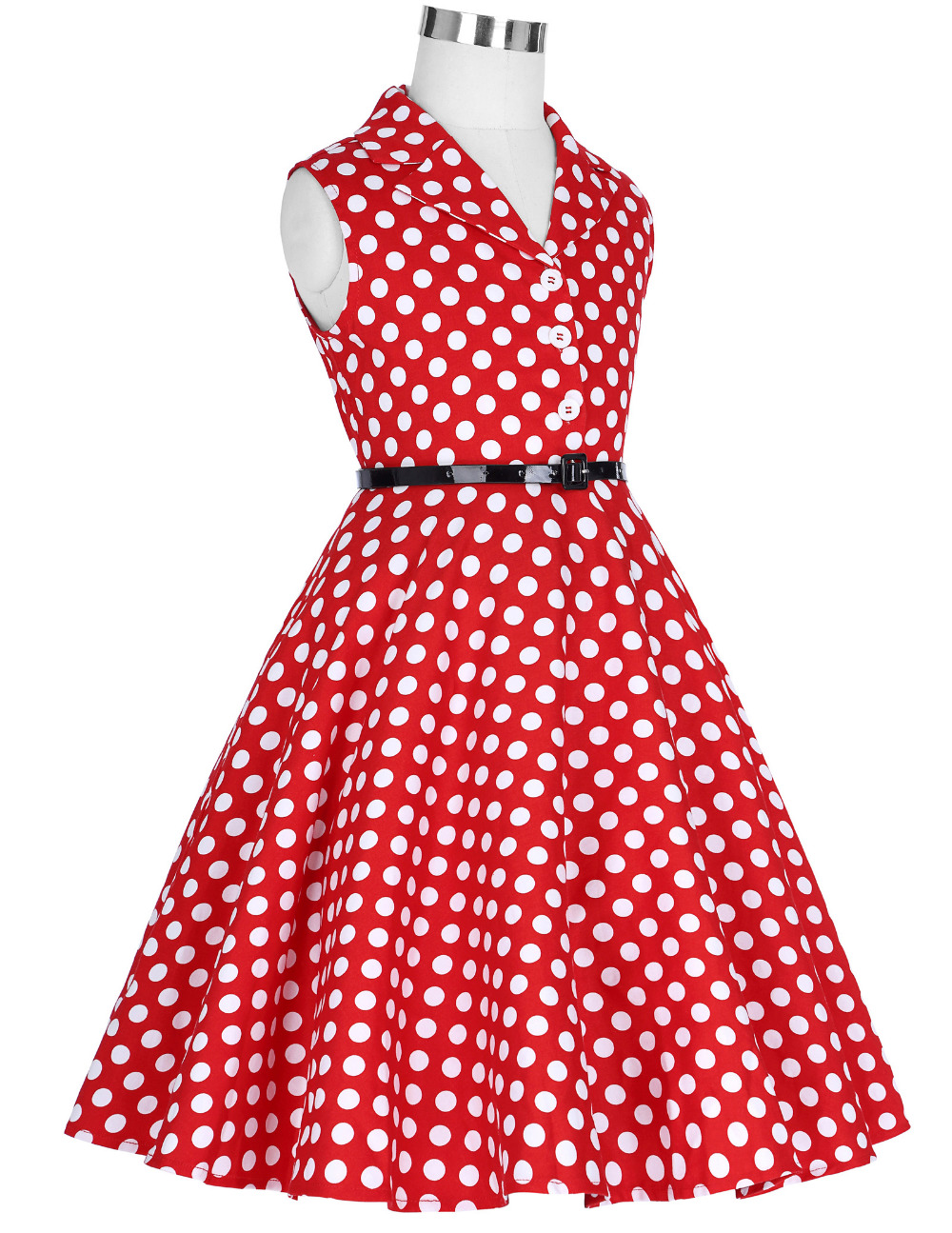 Grace Karin Flower Girl Dresses for Weddings 2017 Sleeveless Polka Dots Printed Vintage Pin Up Style Children's Clothing 16