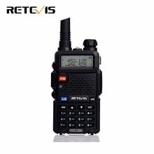 Práctico 5 W Walkie Talkie Retevis RT-5R VHF UHF 136-174 y 400-520 MHz VOX FM Portátil jamón de Radio de Dos Vías Transceptor de Radio cb RT5R