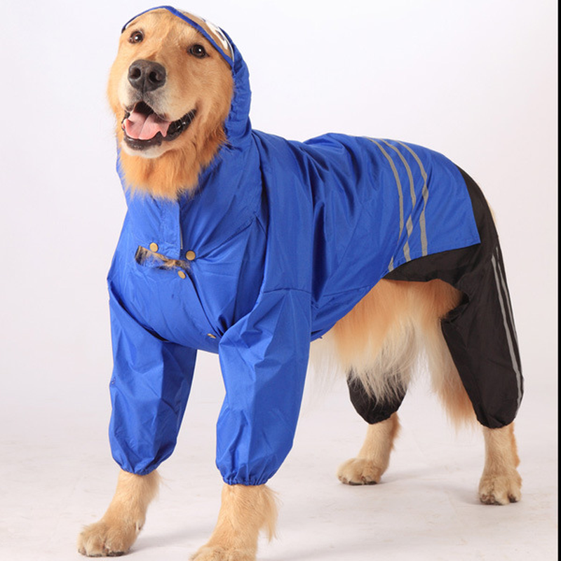 Big Dog Raincoat Golden Retriever Raincoat Dog Waterproof Clothing Pet Supplies ...