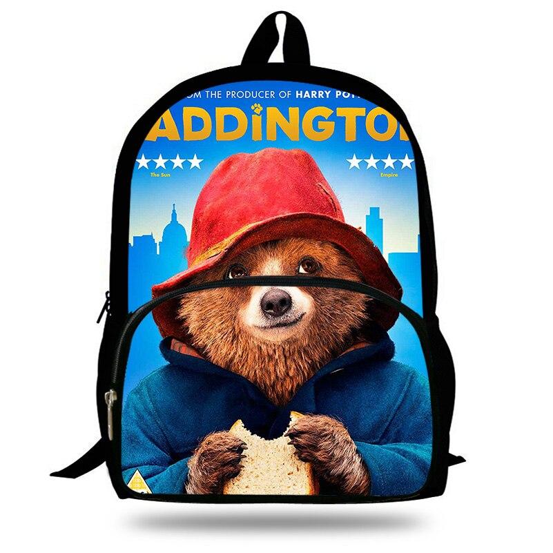 16-Inch Cute Brown Bear Backpack For Teenagers Cool Men Print Girls Animals Bakcpack Children School Bag