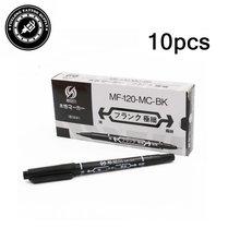 Черная масляная ручка для татуировки и боди арта 10 шт/кор маркер