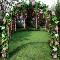 Wedding Props Iron Arch Wall Artificial Flower Stand Metal Arch Home Holiday Celebration Wedding Photography Shelf Balloon Arch