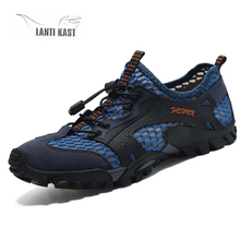 Summer Men Hiking Shoes Mesh Outdoor Men Sneakers Breathable Climbing Shoes Men Sports Shoes Quick-dry Water Shoes zapatillas