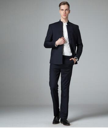 Slim fit blazer men chinese tunic suit jacket male new design groom married suits man fashion blazers wedding chinese style