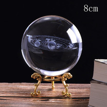 Buy Deli 1PCS 8CM 3D Solar System Crystal Ball Planets Glass Ball Laser Engraved Globe Miniature Model Home Gift Ornament 60mm directly from merchant!