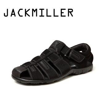 23712304d7a ZOQI verano playa Zapatos hombres Sandalias 2017 diseñadores Sandalias  hombres marca zapatillas de cuero para hombres Zapatos Sandalias Hombre 38-  44
