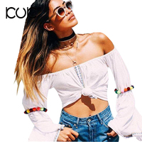 Kuk Boho Top Hippie Chic Clothing Women Blouses Femme Ladies Summer Tops Camisas Femininas Blusas Shirt
