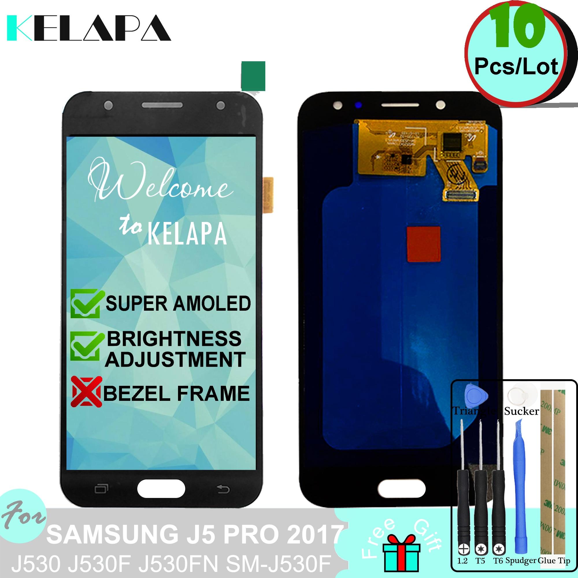 10 pièces Super AMOLED LCD pour SAMSUNG GALAXY J5 Pro 2017 J530 J530F J530FN SM-J530F assemblée de numériseur d'écran tactile