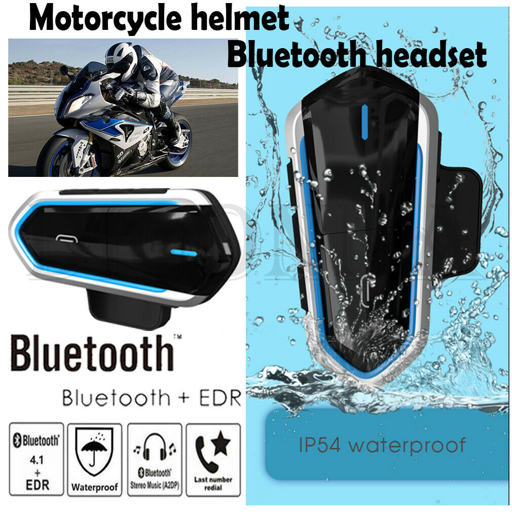 Motorcycle Intercom Bluetooth Helmet Headset Outdoor Waterproof Headset New(China)