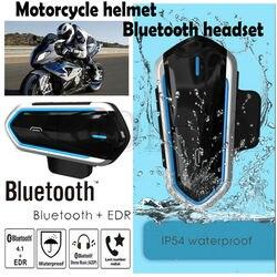 Interkom motocyklowy zestaw słuchawkowy bluetooth kask na zewnątrz wodoodporne słuchawki nowy
