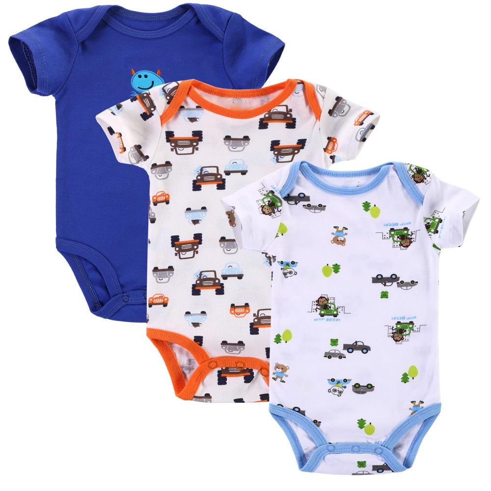 Մոտ Cutest 3 հատ / լոտ Baby Romper Ամառային - Հագուստ նորածինների համար - Լուսանկար 5