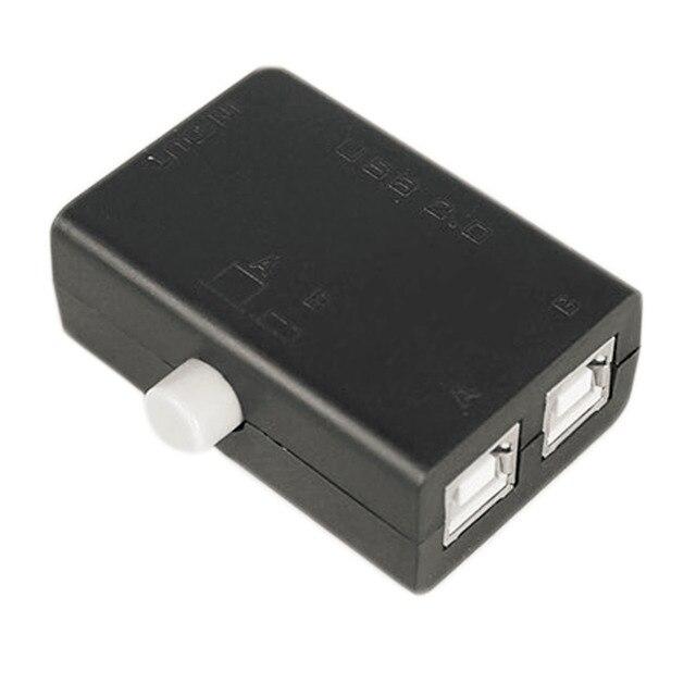 Hot haute qualité nouveau partage USB partage boîte de commutation Hub 2 Ports PC ordinateur Scanner imprimante manuel Promotion chaude en gros